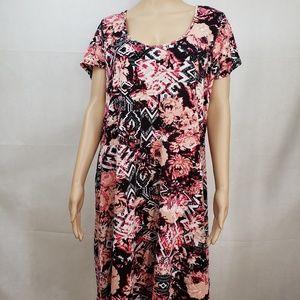 🔵5/$50🔵 Ultra Flirt Plus Pink and Black Dress 3X